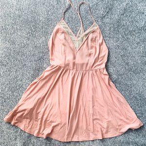 U/O cope brand pink skater dress